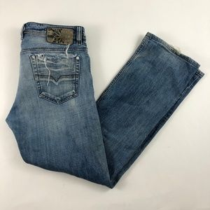 DIESEL VIKER Stretch 0071L Denim Blue Jeans Men's